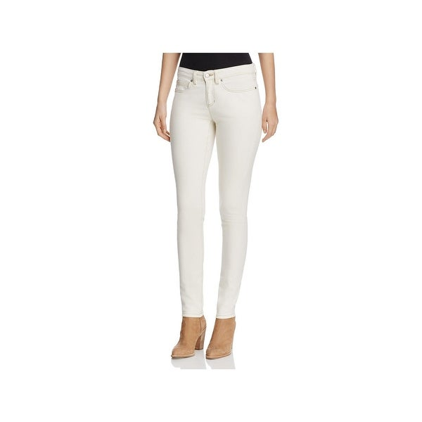 Eileen Fisher Womens Petites Skinny Jeans Mid-Rise Ankle