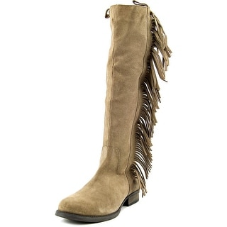 Steven Steve Madden Daltton Women  Round Toe Suede Tan Knee High Boot