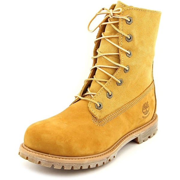 Timberland Auth Teddy Fleece Round Toe Leather Work Boot
