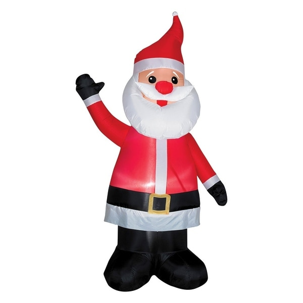 Gemmy 86177 Airblown Santa With Red Nose, 7'