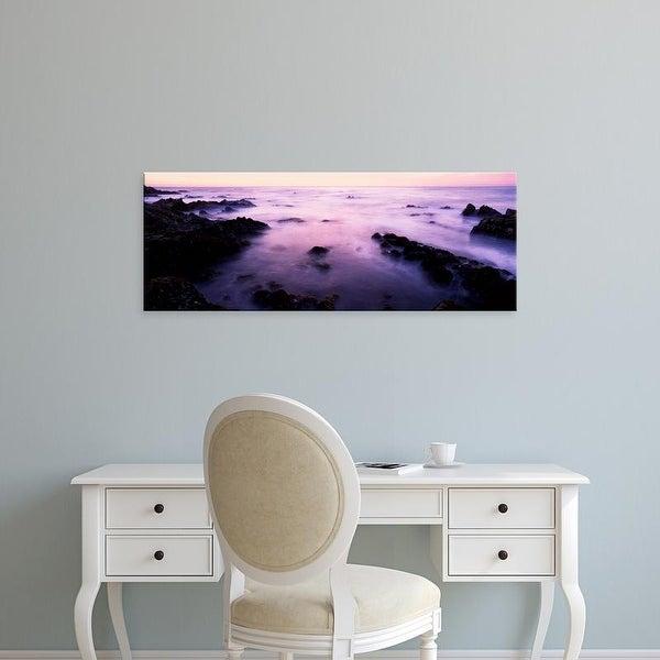 Easy Art Prints Panoramic Images's 'Sunset over the sea, 17