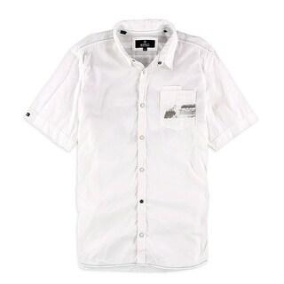 Buffalo David Bitton NEW White Mens Size XL One Pocket Button Down Shirt