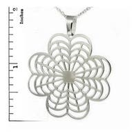 Stainless Steel Ladies Clover Leaf Pendant - 22 inches