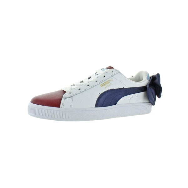 06af42989e Shop Puma Womens Basket Bow New School Fashion Sneakers Leather Low ...