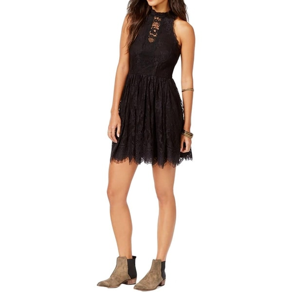 Free People Womens Verushka Casual Dress Lace Fringe