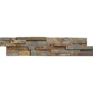 "MS International Inc LPNLSGLDRUS624 24"" x 6"" Rectangle Wall Tile - Textured Quartzite Visual - Sold by Carton (6 SF/Carton)"