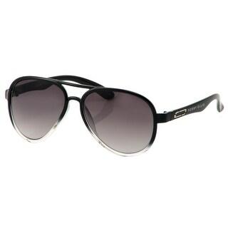 Perry Ellis Mens Plastic Sunglasses Black Ombre Aviator PE59-2, Includes Perry Ellis Pouch, 100% UV Protection