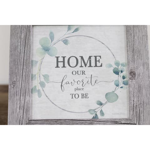 Home My Favorite Place To Be Framed Art Decor Sign