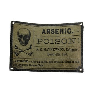 Arsenic Poison Vintage Style Crackled Apothecary Label Wall Hanging