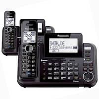 Panasonic KX-TG9541B 2 Line 1 Handset Corded / Cordless Phone 2 Pack New