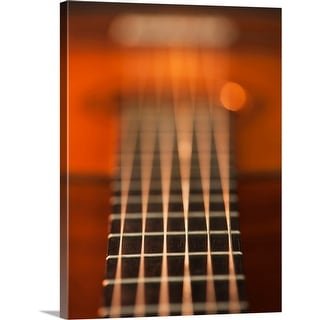 """""""Close up of strings of acoustic guitar"""" Canvas Wall Art"""