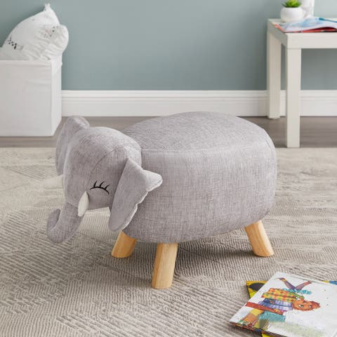 Taylor & Olive Grey Elephant Stool