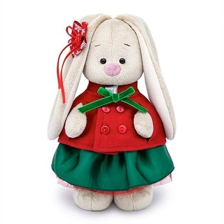 Link to Zaika Bunny Mi in a Red Jacket and Green Skirt Stuffed Plush Toy Similar Items in Stuffed Toys