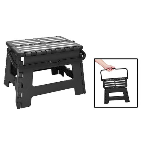 Simplify Step And Stow Folding Step Stool with Handle, 9 Inches