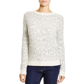 Theory Womens Salomay L Pullover Sweater Ribbed Trim Textured - m