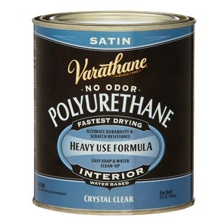 Varathane A200241 Crystal Clear Satin Water Based Polyurethane, 1 Qt
