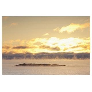 """winter mist on lake superior at sunrise"" Poster Print"