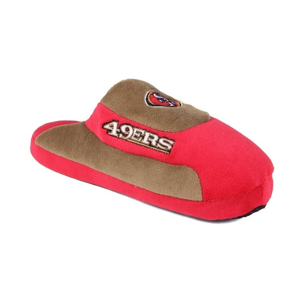Happy Feet Mens and Womens San Francisco 49ers NFL Low Pro Slippers - san francisco 49ers low pro