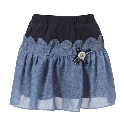 Richie House Girls' Sweet Skirts with Layered Bottom