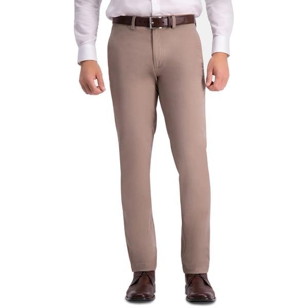 Haggar Mens Pants Beige Size 38x30 Slim Fit Comfort Khakis Stretch. Opens flyout.