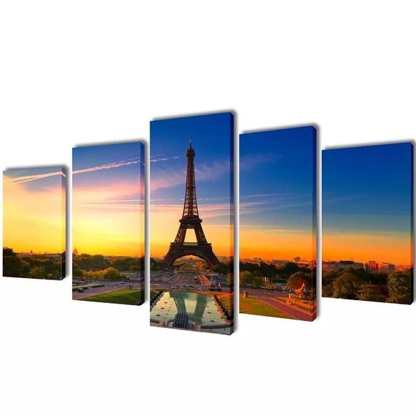 """vidaXL Canvas Wall Print Set Eiffel Tower 39"""" x 20"""""""