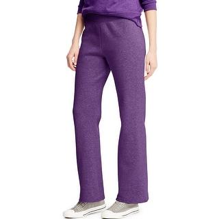 Hanes ComfortSoft EcoSmart Women's Petite Open Leg Sweatpants - L