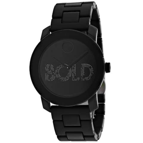 Movado Men's Black Dial Watch - 3600559 - One Size