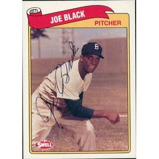 Signed Black Joe Brooklyn Dodgers 1989 Swell Baseball Card autographed