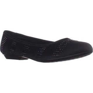 KS35 Ralleigh Studded Ballet Flats, Black