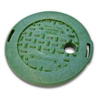 """NDS 107C Irrigation Control Round Valve Overlapping Cover ICV, 6"""", Green"""