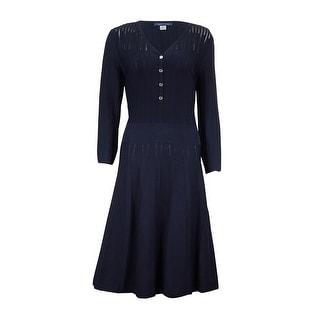 Tommy Hilfiger Women's Illusion A-Line Sweater Dress