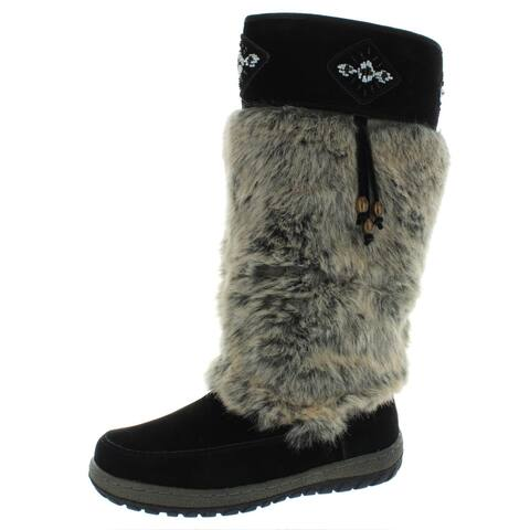 Wanderlust Womens Nika Winter Boots Suede Cold Weather