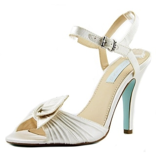 Betsey Johnson Party Women Open-Toe Canvas Ivory Slingback Sandal