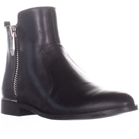 Marc Fisher Rail Ankle Boots, Black Leather