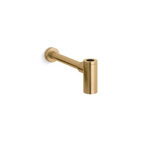 """Kohler Contemporary Round Bottle Trap, 1-1/4"""" X 1-1/4"""" Vibrant Moderne Brushed Gold (K-9033-BGD)"""