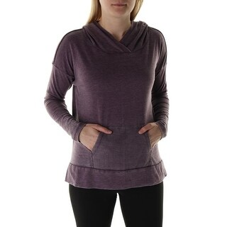 The Balance Collection Womens Feel The Burn French Terry Long Sleeves Hoodie - S