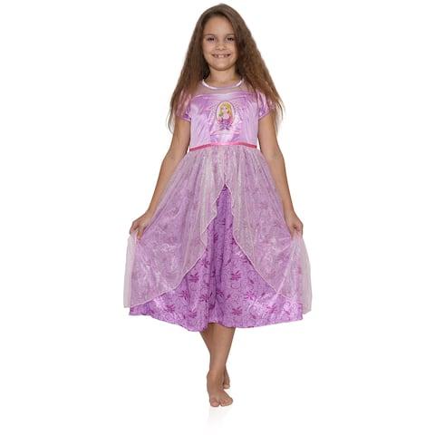 Disney Rapunzel Dress Like A Princess Nightgown for Little Girls