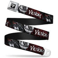 Marvel Universe Venom Spider Logo Full Color Black White Venom Pose Seatbelt Belt
