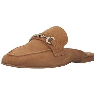 STEVEN by Steve Madden Womens Razzi Leather Closed Toe Mules