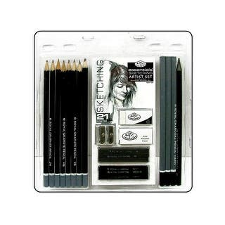 Royal Artist Essentials Set Sketching 21pc|https://ak1.ostkcdn.com/images/products/is/images/direct/8086e3d9c382d908e2528dc0f9ab132dd4cd1dcb/Royal-Artist-Essentials-Set-Sketching-21pc.jpg?impolicy=medium