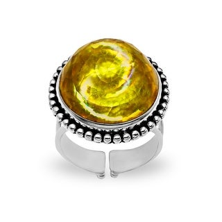 Sajen 15 ct Gold Tornado Quartz Ring in Sterling Silver - Yellow