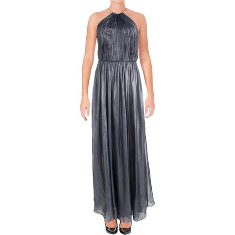 Vera Wang Womens Evening Dress Chiffon Shimmer