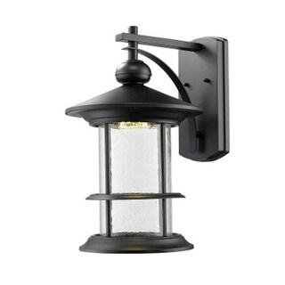 Zlite 552B-BK-LED Outdoor LED Black Wall Light - Clear Seedy