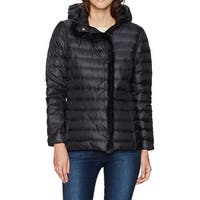 Cole Haan Black Women's Size Large L Quilted Faux Fur Jacket