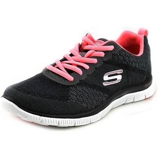 Skechers Flex Appeal-Simply Sweet Round Toe Canvas Tennis Shoe