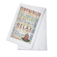 Great Smoky Mountains TN Camping Rules LP Artwork (100% Cotton Towel Absorbent)