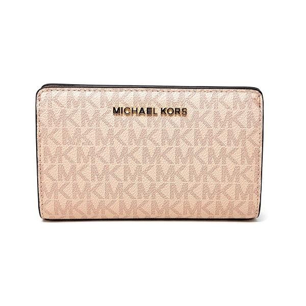 7152c7b6781e Shop Michael Kors Jet Set Travel Slim Bifold Signature PVC Leather ...