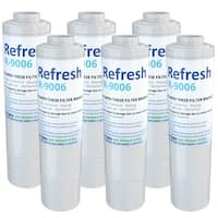 Replacement Water Filter For KitchenAid 4396395 Refrigerator Water Filter - by Refresh (6 Pack)