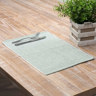 Ashton Ribbed Placemat Set - Placemat 12x18