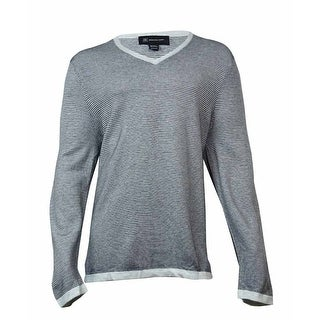 INC International Concepts Men's Tonal Stripe Sweater (Cloud Grey, XXL) - Cloud Grey - XxL